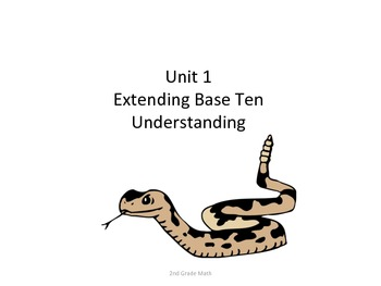 2nd Grade Common Core Math Standards for Posting--Snakes