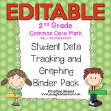 Student Data Tracking Binder   Data Graphing: 2nd Grade Math *EDITABLE*