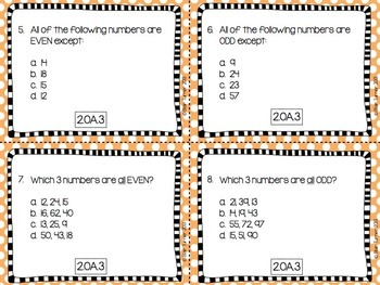 2nd Grade Common Core Math Task Cards - OPERATIONS AND ALGEBRAIC THINKING