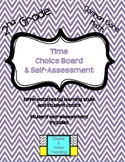 2nd Grade Common Core Math: Time Choice Board & Self-Assessment