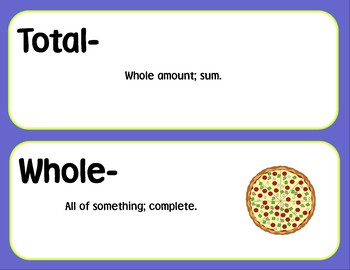 2nd Grade Common Core Math Vocabulary