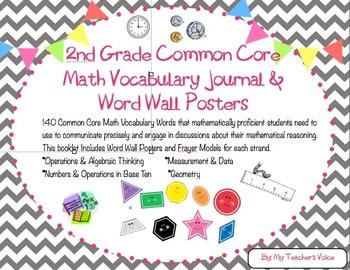 2nd Grade Common Core Math Vocabulary Booklet Bundle