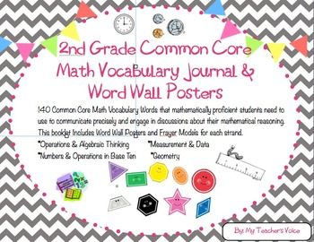 2nd Grade Common Core Math Vocabulary Booklet Bundle
