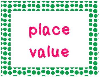 2nd Grade Common Core Math Vocabulary Words