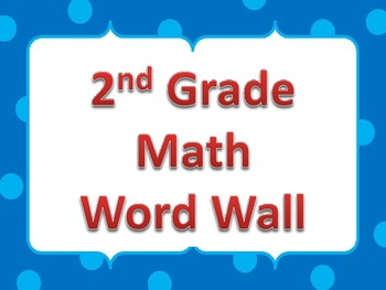 2nd Grade Common Core Math Word Wall