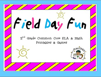 2nd Grade Common Core Math and Language Arts Review (Field Day/ Sports Theme)