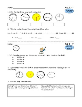 2nd Grade Common Core Math for Measurement and Data