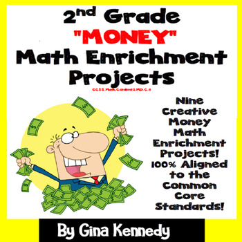 2nd Grade Money Math Enrichment Projects