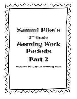 2nd Grade Common Core Morning Work Pt. 2