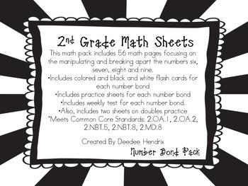Second Grade Common Core Number Bond Bundle