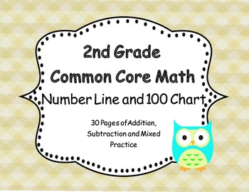 2nd Grade Common Core Number Line and 100 Chart Add & Subtract