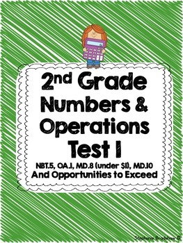 2nd Grade Common Core Numbers & Operations Test Unit 1