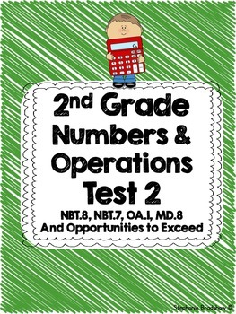2nd Grade Common Core Numbers & Operations Test Unit 2