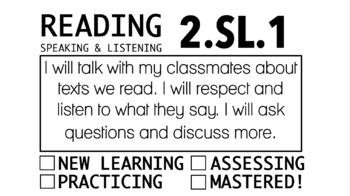 2nd Grade Common Core Objectives (RL, RI, RF, & SL)