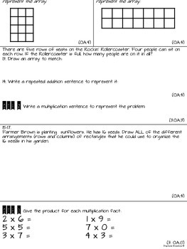 2nd Grade Common Core Odd, Even, and Multiplication Test