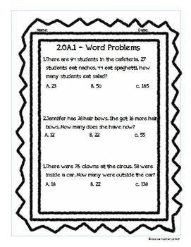 2nd Grade Common Core Operations & Algebraic Thinking