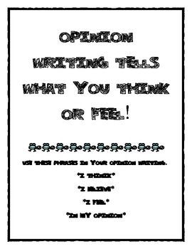 2nd Grade Common Core Opinion Writing Pack