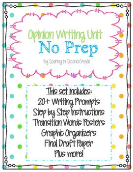 2nd Grade Common Core Opinion Writing Unit- NO PREP!