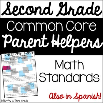 2nd Grade Common Core Math Parent Helper -also in Spanish