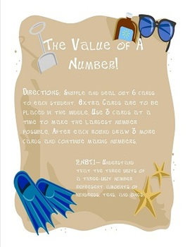 2nd Grade Common Core Place Value Packet 2.NBT.1-8