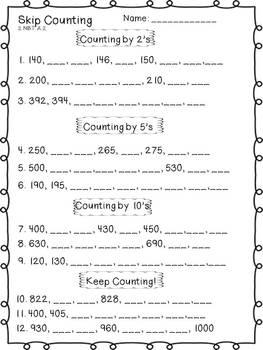 2nd Grade Common Core Place Value Unit
