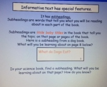 2nd Grade Common Core RI.2.5 Informative Text Features PowerPoint