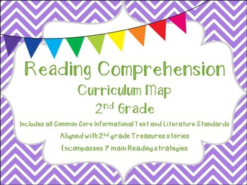 2nd Grade Common Core Treasures-Aligned Reading Comprehension Curriculum Map