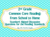 2nd Grade Common Core Reading Discussion Questions: From School to Home