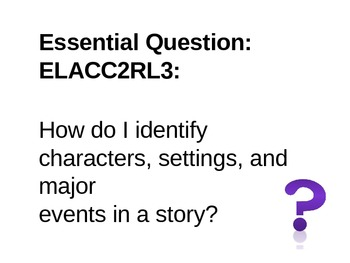 2nd Grade Common Core Reading Essential Questions for Posting