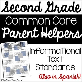 2nd Grade Common Core Reading Informational Text Parent He