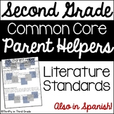 2nd Grade Common Core Reading Literature Parent Helper -also in Spanish