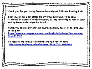 2nd Grade Common Core Reading Standards Pack