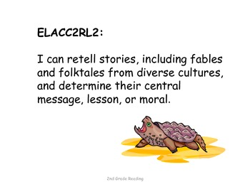 2nd Grade Common Core Reading Standards for Posting--Reptiles and Amphibians