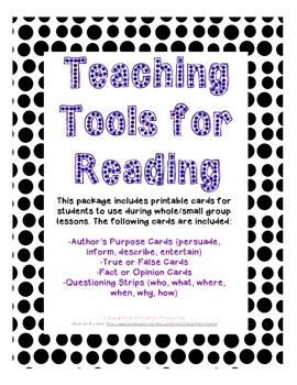 2nd Grade Common Core ELA Tools for Students (Reading)