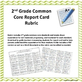 2nd Grade Common Core Standards Based Report Card Rubric