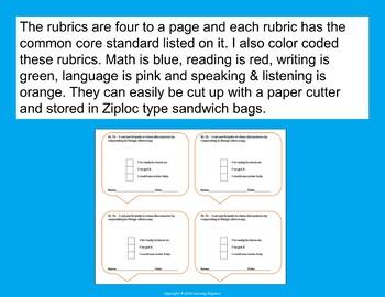 2nd Grade Rubrics, 2nd Grade Assessments