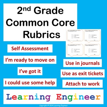 Math Rubric For Self Assessment Worksheets Teachers Pay