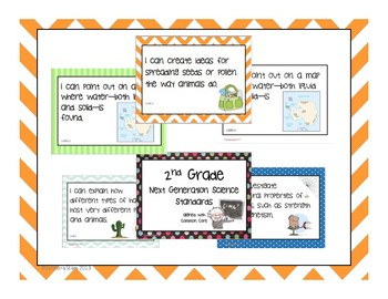 "FULL 2nd Grade Next Generation Science Posters (Common Core Align) ""I Can..."""