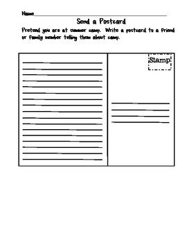 2nd Grade Common Core Send A Post Card
