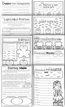 2nd Grade Common Core: St. Patrick's Day Literacy, Reading, Writing, Math & More
