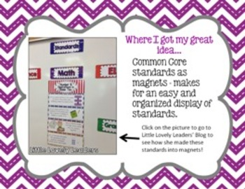 2nd Grade Common Core Standard Posters