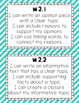 I Can Statements – 2nd Grade Common Core