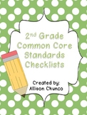 2nd Grade Common Core Standards Checklists