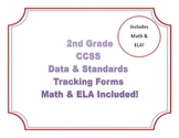 2nd Grade Common Core Standards: Data Tracking & Standards Forms