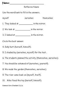 2nd Grade Common Core Standards Grammar Pack