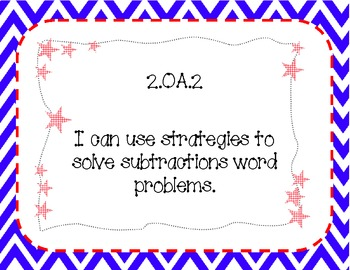 2nd Grade Common Core Standards I Can Posters:  Patriotic Theme