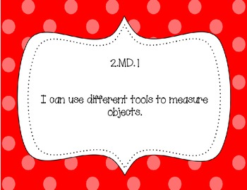 2nd Grade Common Core Standards I Can Posters: Polka Dots