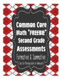 2nd Grade Common Core Standards Math Assessments Freebie {100% Aligned}