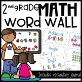2nd Grade Math Vocabulary and Word Wall Cards