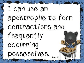 2nd Grade Common Core Standards - Panther Theme